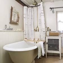 small cottage bathroom ideas rustic cottage bathroom roll top bath shower rail and curtain poles