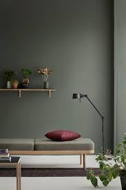 Green Color Schemes For Bedrooms - interior dark green paint color for minimalist living room with