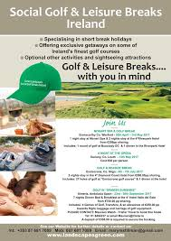 leisure opportunities 30th may 2017 social golf breaks landscapes green