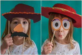 free printable toy story photo booth props woody jessie
