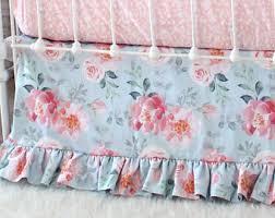 Pink Floral Crib Bedding Floral Crib Bedding Etsy