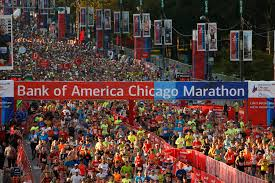 New York City Marathon Map by Chicago Marathon Course Map 2008 Chicago Illinois Mappery Bank Of