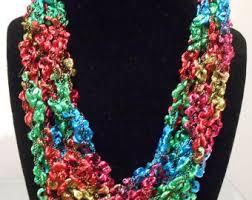 trellis ladder yarn necklace instructions ladder yarn etsy