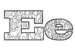 lettre e coloriage  bizpageinfo
