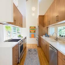 mid century modern walnut kitchen cabinets 75 beautiful mid century modern kitchen with brown cabinets
