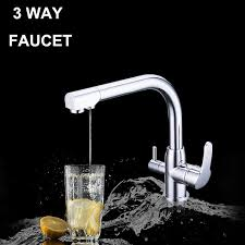 3 kitchen faucet 3 in one water filter tap three way kitchen faucet mixer