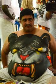 pulikali the tiger play oviyar