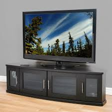 tv cabinet for 65 inch tv plateau newport 62 inch corner tv stand in black hayneedle
