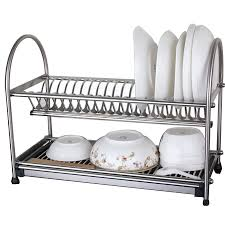 Furniture Home Stainless Steel Dish Rack Dish Drainer Drying Rack