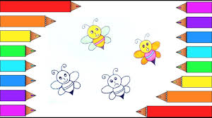 how to draw and color a honey bee emoji i learn coloring pages for