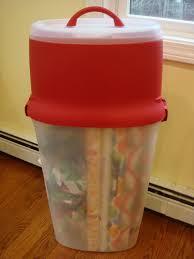 plastic gift wrap storage box