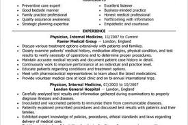 Medical Doctor Resume Example by Physician Cv Sample Resumes Medical Doctor Resume Examples