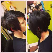 haircuts shorter in the front super short in back long in front but a little longer in the