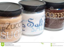 coffee sugar and salt jars stock image image 16412015