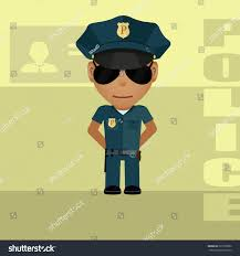drawing policeman style animated film stock vector 220755802