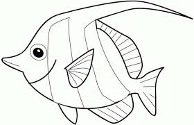 coloring page coloring fish pages for kids cartoon 51 on of