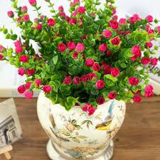 fleurs dans une chambre six branches d eucalyptus bourgeons artificielle fleurs