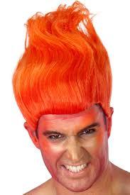 mens halloween wigs men u0027s orange flame costume wig orange devil men u0027s halloween wig