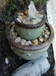 flower pot water fountain