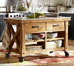 wood top kitchen island hamilton reclaimed wood marble top kitchen island pottery barn