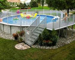 Cool Pool Ideas by Landscaping Cool Above Ground Pool Landscaping For Backyard Ideas