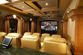 interior elegant home theater in living room design ideas with