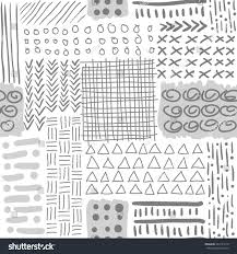 monochrome seamless pattern abstract minimal vector stock vector