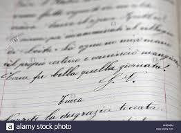 free cursive writing paper italian language school notebook with cursive handwriting stock italian language school notebook with cursive handwriting