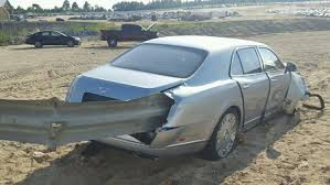 bentley mulsanne is the world ouch mulsanne impaled on guardrail crewe craft