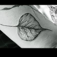 bo tree leaf namastetattoostudio bodhi botree sacred