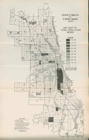Map Chicago by Census Tracts Of Chicago 1934 Per Cent Total Population Negro