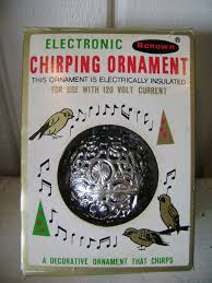 vintage chirping bird ornament bird song electronic by junquegypsy