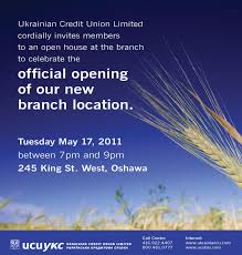 New Office Opening Invitation Card Building Community будуємо громаду Offical Opening Of Our New