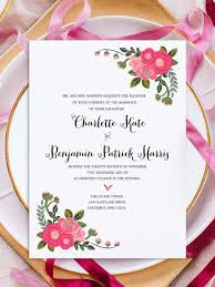 printable invitation templates print pink flowers free printable invitation templates