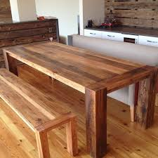 Country Dining Table Kitchen Table Contemporary Handmade Dining Table Solid Wood