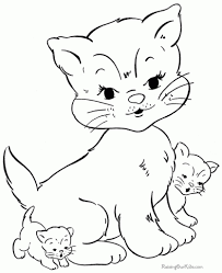 kittens coloring pages three little kittens coloring page three