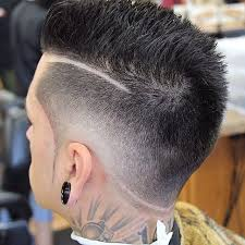how to trim sides and back of hair haircut fade on side long on top men hairstyle trendy