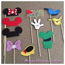 mickey mouse photo booth props mickey mouse and friends photo booth prop set disney photo booth