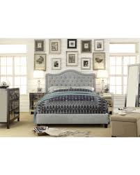 Linen Bed Frame Bargains On Adella Linen Tufted Upholstered Size