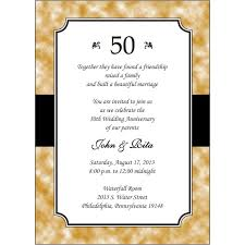 templates 50th wedding anniversary invitations templates with