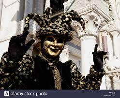 venetian jester costume black gold jester costume venice carnival stock photo 6772548 alamy