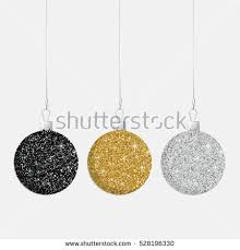 glitter christmas baubles vector format stock vector 528196339