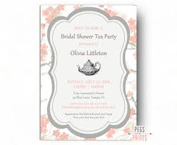 tea party bridal shower invitations floral bridal shower tea party invitation printable bridal