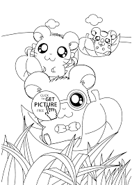 funny anime coloring pages kids printable free
