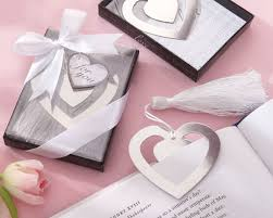 bookmark favors story heart bookmark wedding favors