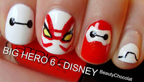 big hero 6 trailer inspired nails short u0026 long disney nails