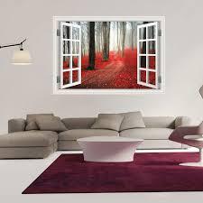 9 styles 3020 removable beach sea 3d window scenery wall sticker