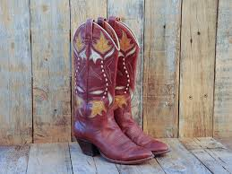 cowboy boots uk leather leather boots us 6 uk 4 eu 37 brown cowboy boots inlay