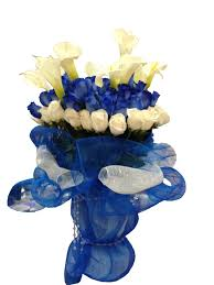 white blue roses blue and white roses arrangement event flowers ny