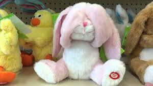 stuffed bunnies for easter peek a boo giggling silly happy pink bunny rabbit easter